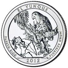 2012 El Yunque National Forest Puerto Rico Quarter Philadelphia Denver 2 Coins