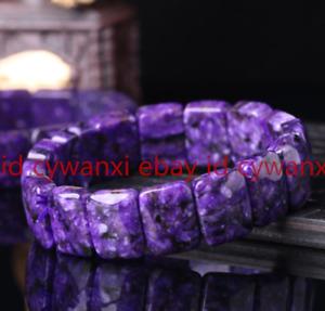 Rare Top Quality Natural Purple Charoite Crystal Gemstone Bracelet AAA++