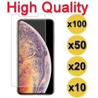WHOLESALE Tempered Glass Screen Protector for iPhone 11 Pro Xs MAX 8 6 7 Plus XR