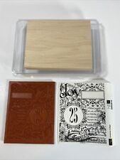 STAMPIN UP, CHRISTMAS COLLAGE BACKGROUND STAMP SET, RETIRED, NEW