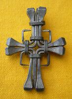 Vintage french CARPENTER 9 NAILS CROSS PENDANT croix pendentif clous charpentier