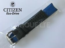 Citizen Eco-Drive Black Leather w/ Blue Stitching Watch Band AT7030-05E, S079870