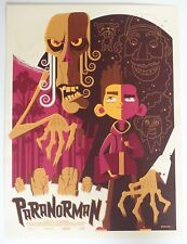 PARANORMAN MONDO POSTER BY TOM WHALEN LIMITED EDITION SCREEN PRINT