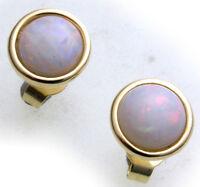 Damen Ohrringe echt Opal 8 mm echt Gold 333 Stecker Gelbgold Ohrstecker Qualität