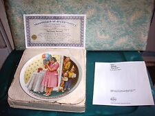 """Vintage1987 Norman Rockwell Knowles Collector Plate""""The Sneak Preview"""" Coa W/Box"""