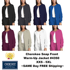 Cherokee Nurses Scrub Workwear Snap-Front Jacket Style 4350 ~Free Ship~ ~New~