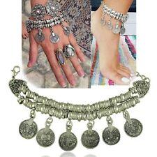 Tribal Free Gypsy People Coachella Jewelry Gift Boho Coin Bracelet Anklet Ethnic