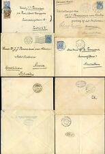 HOLLAND 1898-1915 STATIONERY + UPRATED to SWISS + EAST INDIES etc...4 ENVELOPES