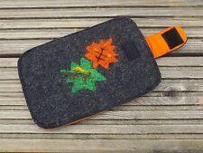 Handmade Felt Smart Phone Case Cover Pouch IPhone ~ Samsung Galaxy ~ Blackberry