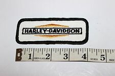 Vintage Harley Davidson Motorcycle Patch New  Black, Orange & White (737)
