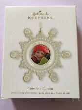 Hallmark Keepsake 2011 Cute As A Button Snowflake Photo Ornament New Store Stock