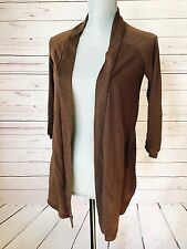 Made for Me 2 Look Amazing Burnout Sheer Open Front High-Low Cardigan Sweater M