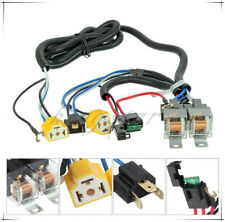 2 Headlight H4 Headlamp Light Bulb Ceramic Socket Plugs Relay Wiring Harness
