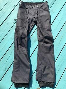 Burton snowboard ski snowmobile winter insulated pants. Blue denim .Men's small