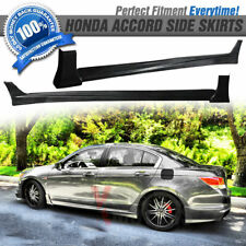 Fits 08-12 Honda Accord 4Dr Sedan Mugen Style PU Side Skirt Extension
