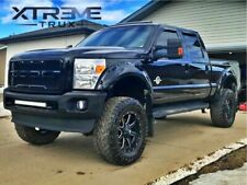 Grille Replacement Amber LED Lights Included Matte Black Front Grill for Ford F250//F350 1999-2004 Raptor Style Grill