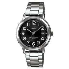 NEW CASIO MEN'S QUARTZ ANALOGUE WATCH STAINLESS STEEL & BLACK MTPS100PD-1BVER