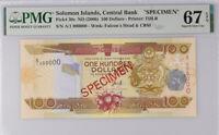 Solomon Islands 100 Dollars nd 2006 P 30 Specimen Superb Gem UNC PMG 67 EPQ