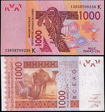 WEST AFRICAN STATES 1000 FRANCS (P715K) 2003 (2012) SENEGAL UNC