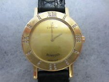 CORUM ROMULUS - DAMEN-ARMBANDUHR -   750 Gelbgold - DIAMANTEN - 1993 - TOP