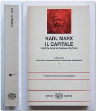 Karl Marx IL CAPITALE Critica dell'economia politica Libro Terzo II Einaudi 1975