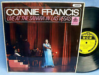LP CONNIE FRANCIS - LIVE AT THE SAHARA IN LAS VEGAS // UK ENGLAND MGM