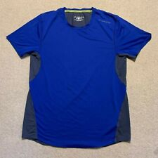 Brooks Steady Drilayer men's short sleeved running t shirt in blue/grey - small