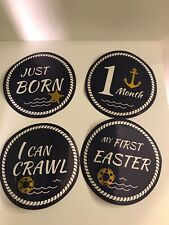 First Year Little Sailor Baby Milestone Stickers 1 Mon- 1 Yr, Holidays & Moments