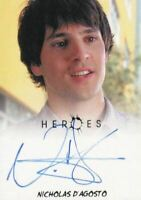 Heroes Archives Nicholas D'Agosto as West Rosen Autograph Card