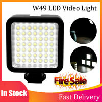 W49 5.5W DC3V 6000K LED Photograph Light Video Lamp Camera Fill Lights for DSLR