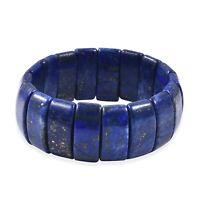 Lapis Lazuli Stretchable Strech Bead Beaded Bracelet for Women 513 Ct Size 7""