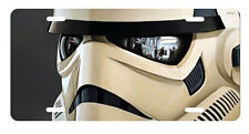 Star Wars Stormtrooper Close up Aluminum License Plate, Custom Printed
