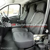 RENAULT TRAFIC SPORT BUSINESS+ 2020 ON TAILORED FRONT SEAT COVERS BLACK 147