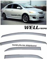 WellVisors Aerodyn Series Side Window Visors For 07-12 Toyota Yaris 4Dr Sedan