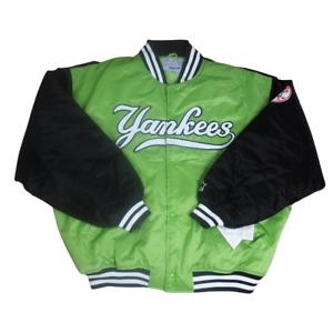 Starter Yankees MLB Bomber Mens Jacket Green Rare Vintage LM-Z389ST Sz 3XL New