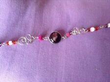 bracelet macimum length 8 inches A ladies red bead and metal