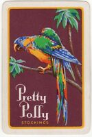 Playing Cards Single Card Old PRETTY POLLY Stockings MACAW PARROT Advertising 2