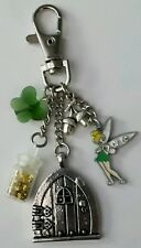 Tinkerbell fairy handbag keyring/ bag charm. Fairy door charm with pixie dust
