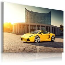 LAMBORGHINI GALLARDO YELLOW  Sports Cars Wall Art Canvas Picture  AU494 X MATAGA
