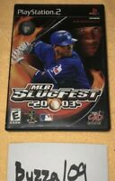 MLB SlugFest 2003 PlayStation 2 PS2 2002 Tested Complete CIB Baseball Retro Game