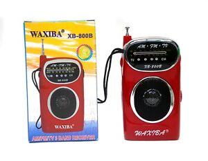 1pc Pocket FM/AM/TV 3 Band Radio XB-800B FM 64~108Mhz AM 525~1600Khz AA 1.5Vx2