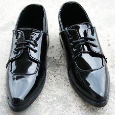 [wamami] 13# Black SD DZ 1/3 BJD Doll Dollfie Faux Leather Shoes ~ 9cm