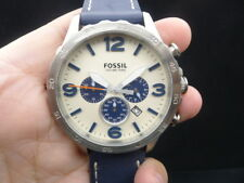 NEW OLD STOCK FOSSIL NATE JR1480 CHRONOGRAPH DATE QUARTZ MEN WATCH