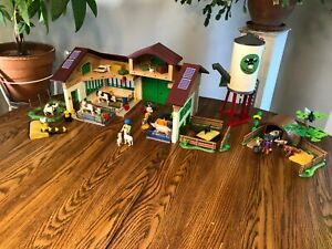 PLAYMOBIL COUNTRY FARM   BARN - SILO  - PIG PEN -  PLUS