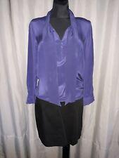KOOKAI robe SOIE combinée bicolore noir et bleu nuit et bimatière taille 42