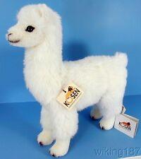 KOSEN Made in Germany NEW Alpaca Plush Toy in White Alpaca Fur
