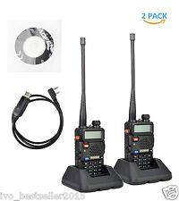Handheld Radio Scanner 2-Way 2 pack Portable Digital Transceiver Police HAM EMS