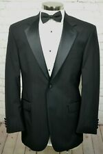 Stafford Mens Black Wool TUX Formal TUXEDO Jacket Coat Blazer SIZE 40R