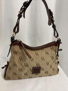 Dooney &  Bourke Tan/Brown Small East /West Slouch Hobo Bag