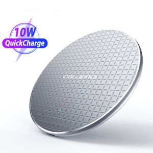 Qi Fast Charging Pad Wireless Charger Ultra Dock For iPhone Huawei Smartphones